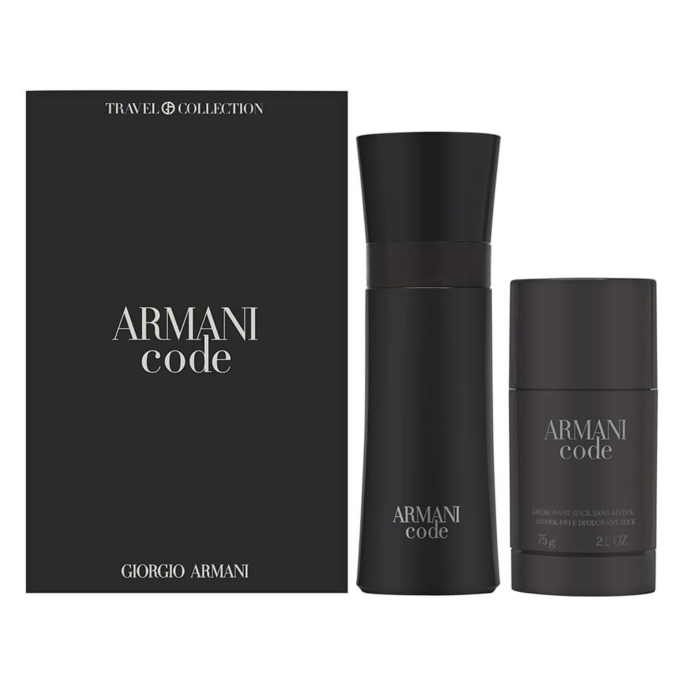 Armani Code by Giorgio Armani for Men 2.5oz EDT Spray Deodorant Stick Gift Set