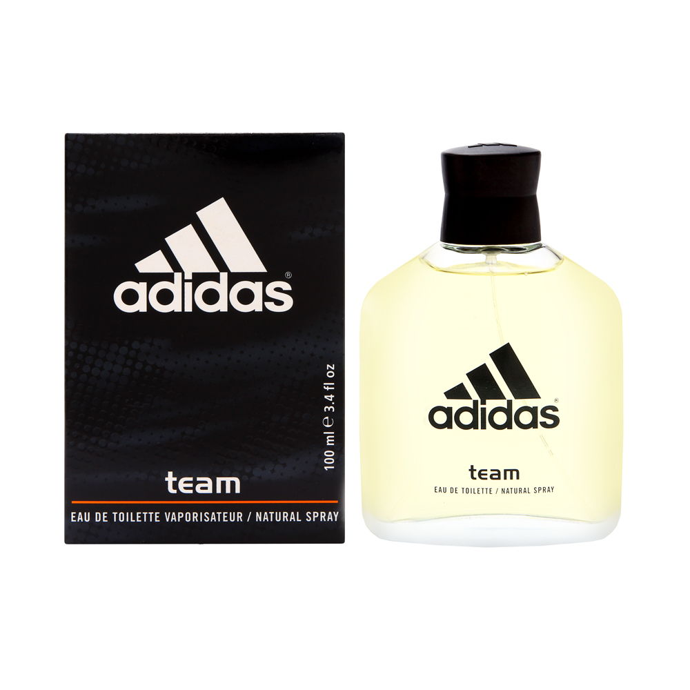 Adidas Team by Coty for Men 3.4oz EDT Spray Shower Gel