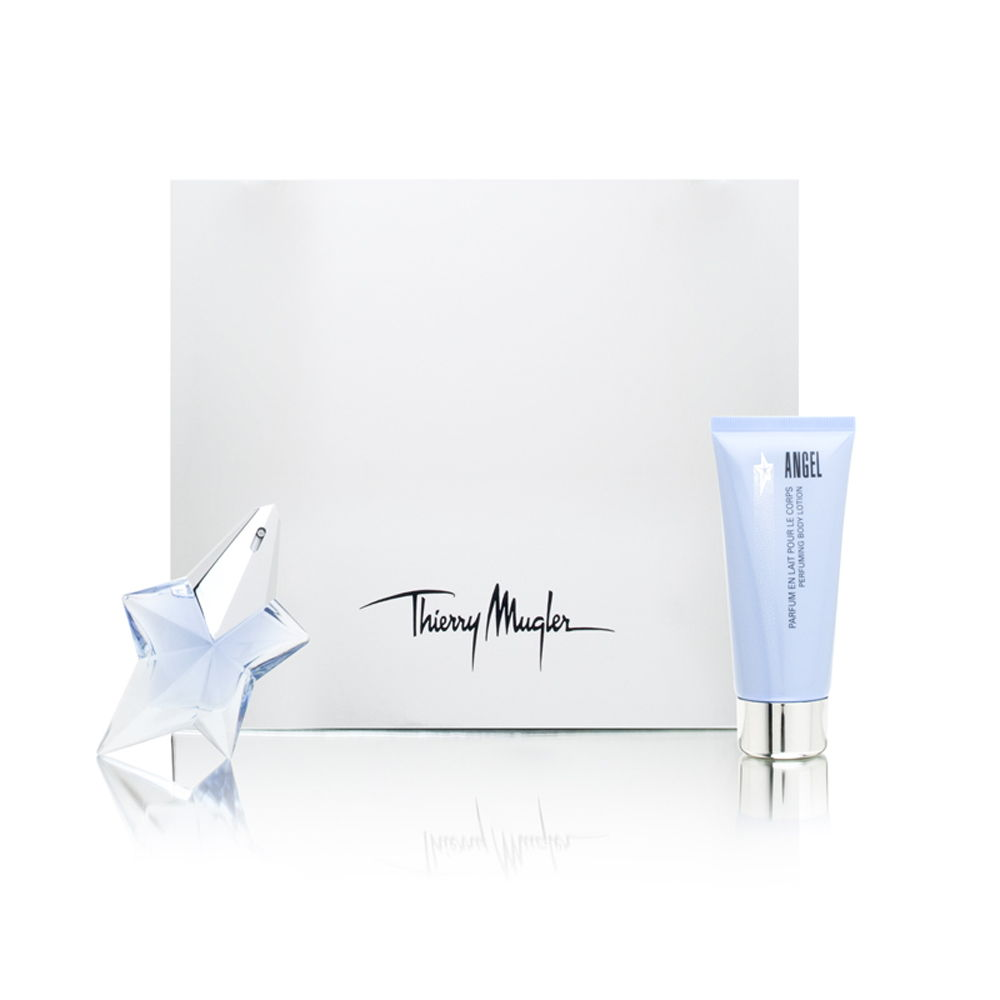 Angel by Thierry Mugler for Women 0.8oz EDP Spray Body Lotion Gift Set