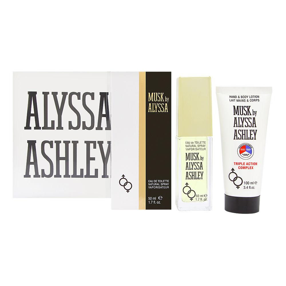 Musk by Alyssa Ashley for Women 1.7oz EDT Spray Body Lotion Gift Set