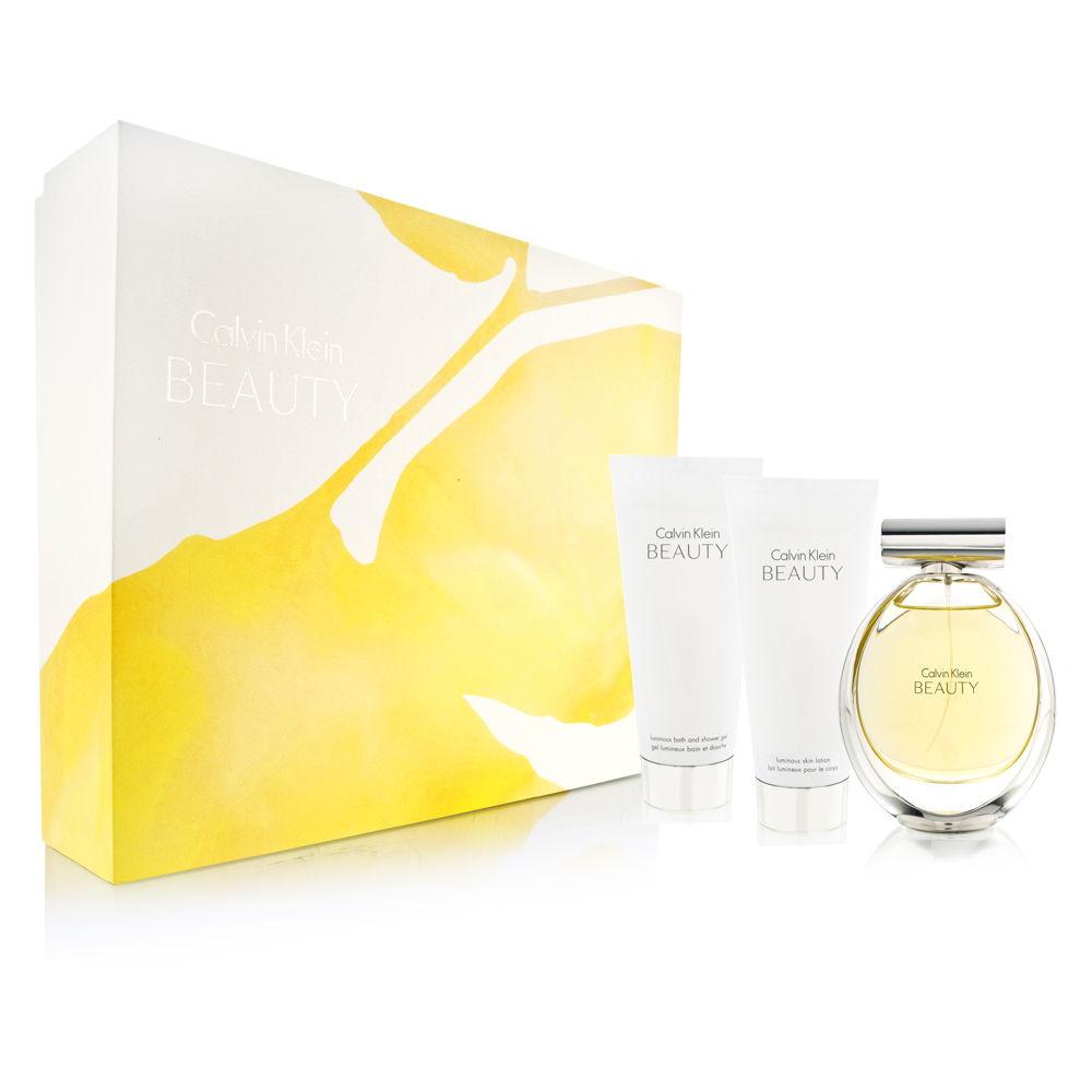 Coty Calvin Klein Beauty for Women 3.4oz EDP Spray Shower Gel Gift Set
