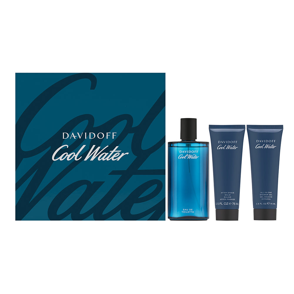 Coty Cool Water by Davidoff for Men 4.2oz EDT Spray Aftershave Shower Gel Gift Set