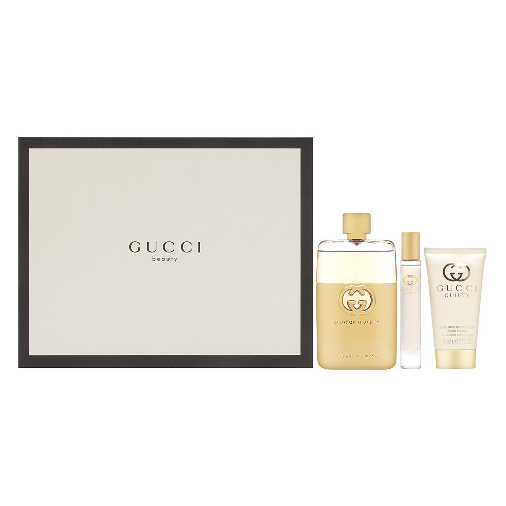 Gucci Guilty Pour Femme by Gucci 3.0oz EDP Spray Body Lotion Gift Set