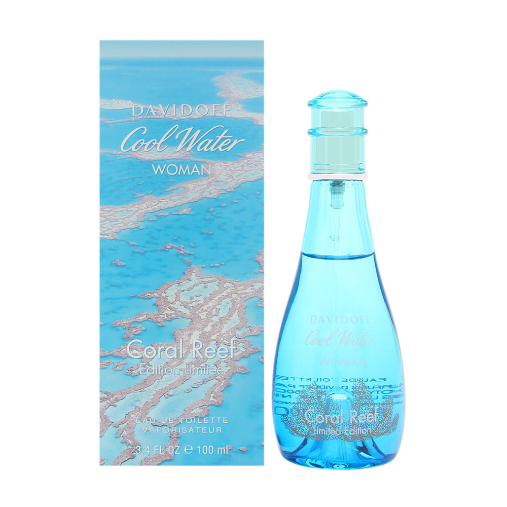 Coty Cool Water Coral Reef by Davidoff for Women 3.4oz EDT Spray