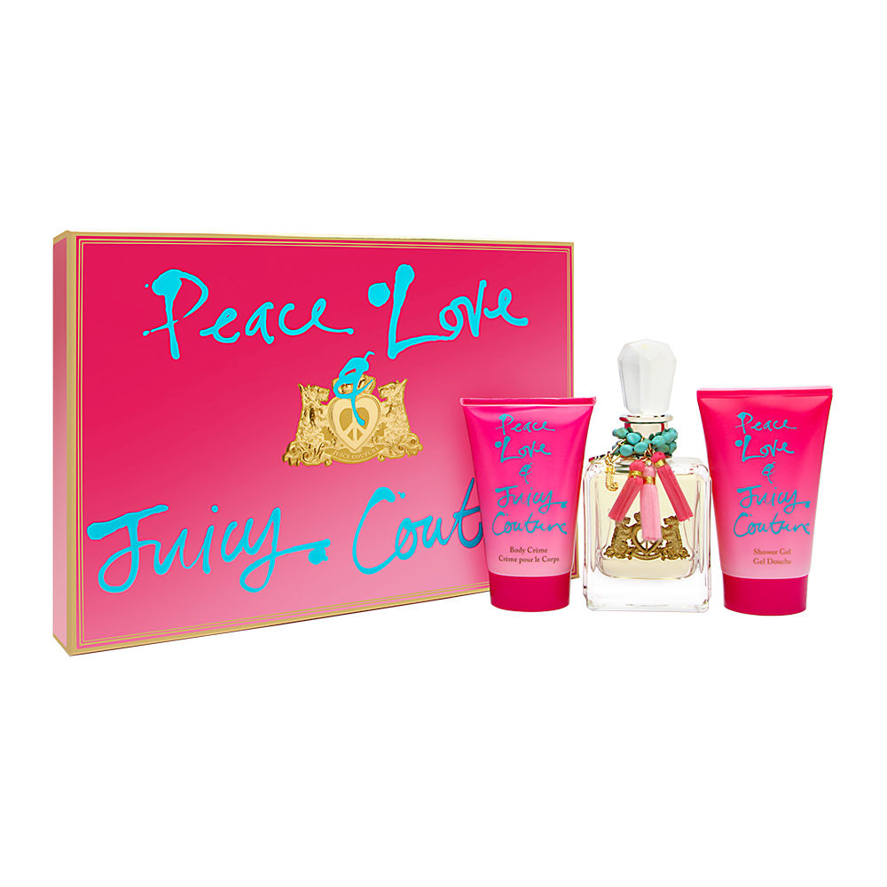 Peace Love & Juicy Couture by Juicy Couture for Women 3.4oz EDP Spray Shower Gel Gift Set