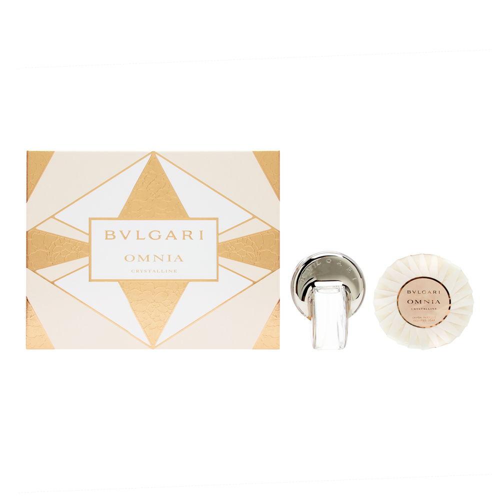 Bvlgari Omnia Crystalline by Bvlgari for Women 1.35oz EDT Spray Gift Set