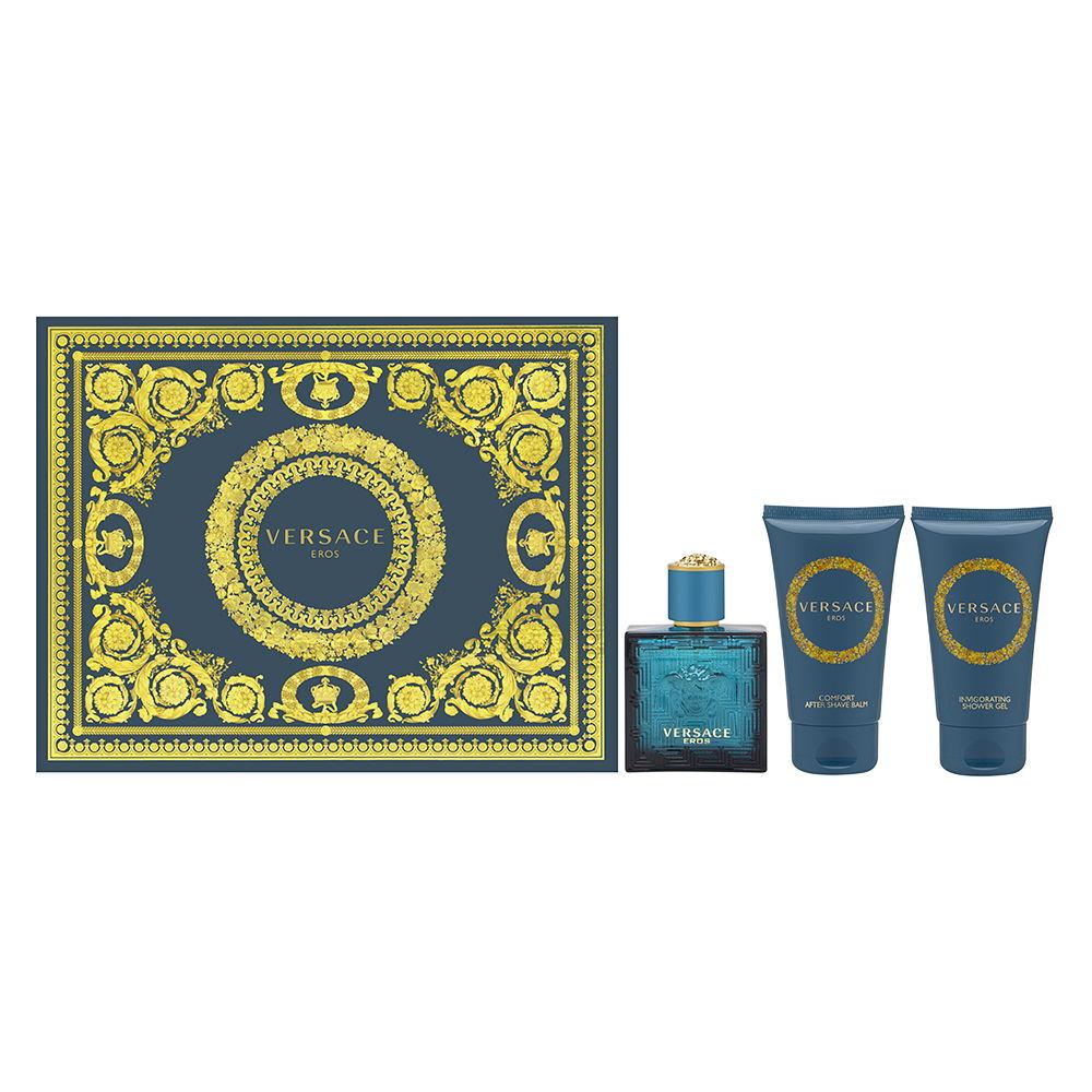 Euro Italia Versace Eros for Men 1.7oz EDT Spray Aftershave Shower Gel Gift Set