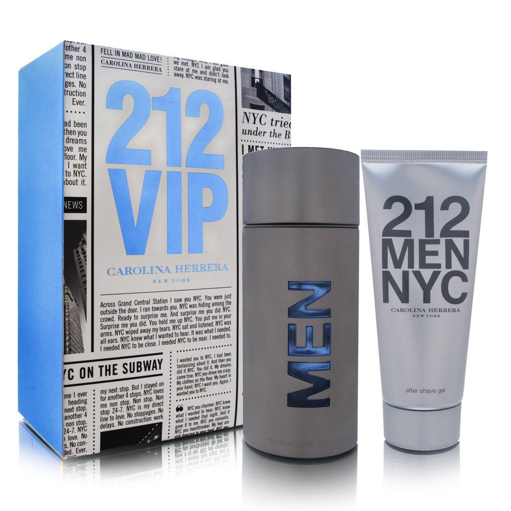 Puig 212 Men by Carolina Herrera 3.4oz EDT Spray Aftershave Gift Set